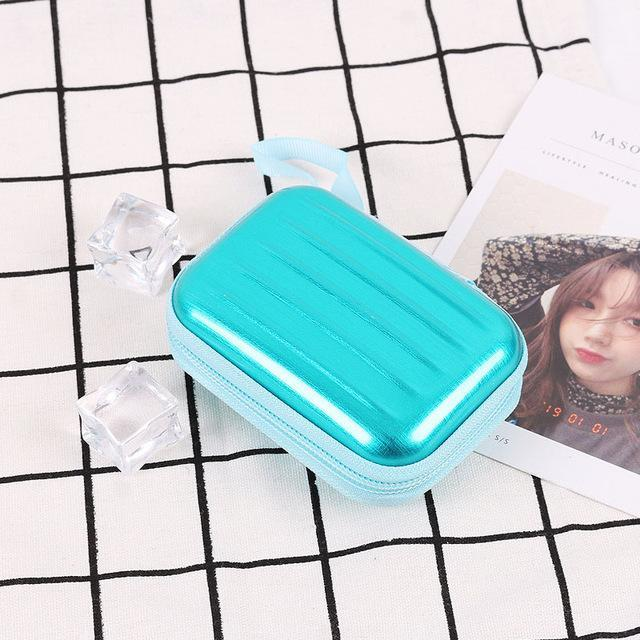 Accessories Mint Colorful Earphone Zipper Case