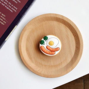 Accessories Poached Egg Cute Cartoon Ring Holder Stand