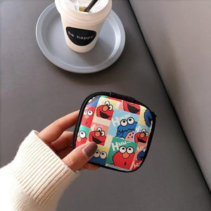 Accessories Sesame Street Cute Cartoon Earphone Zipper Case