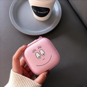 Accessories Smiley Face Cute Cartoon Earphone Zipper Case