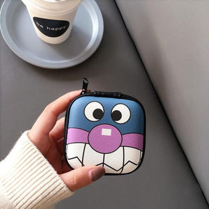 Accessories Ugly Face Cute Cartoon Earphone Zipper Case