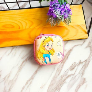 Accessories Yellow Princess Cute Cartoon Earphone Zipper Case