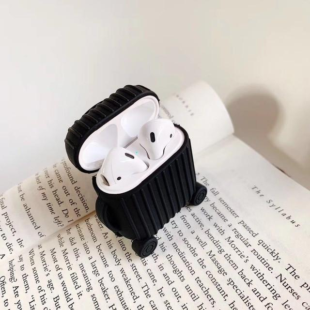 Airpods Case A1 Simple Color Luggage AirPods Case