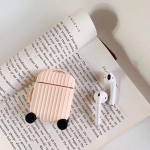 Airpods Case A4 Simple Color Luggage AirPods Case