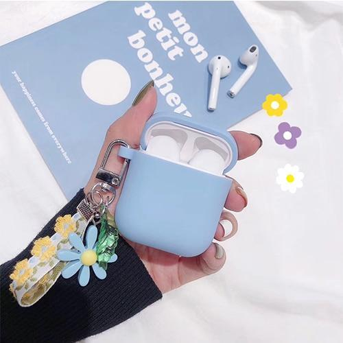 Airpods Case B Cute Korean Flower Decoration AirPods Case