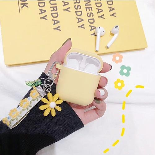Airpods Case C Cute Korean Flower Decoration AirPods Case