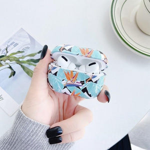 Airpods Case Color 2 Luxury Marble Leaf Pattern AirPods Pro Case