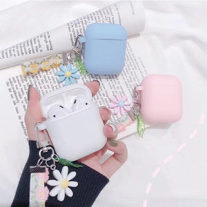 Airpods Case Cute Korean Flower Decoration AirPods Case