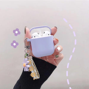 Airpods Case D Cute Korean Flower Decoration AirPods Case