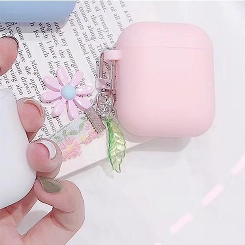 Airpods Case E Cute Korean Flower Decoration AirPods Case