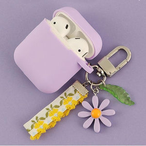 Airpods Case G Cute Korean Flower Decoration AirPods Case