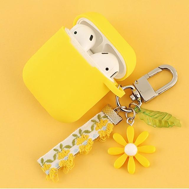 Airpods Case H Cute Korean Flower Decoration AirPods Case