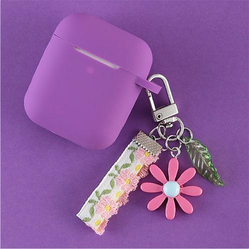 Airpods Case J Cute Korean Flower Decoration AirPods Case