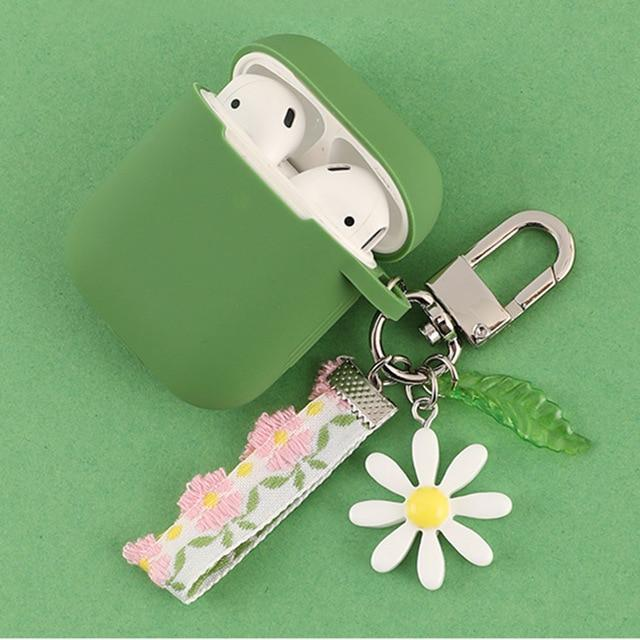 Airpods Case K Cute Korean Flower Decoration AirPods Case