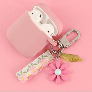 Airpods Case L Cute Korean Flower Decoration AirPods Case