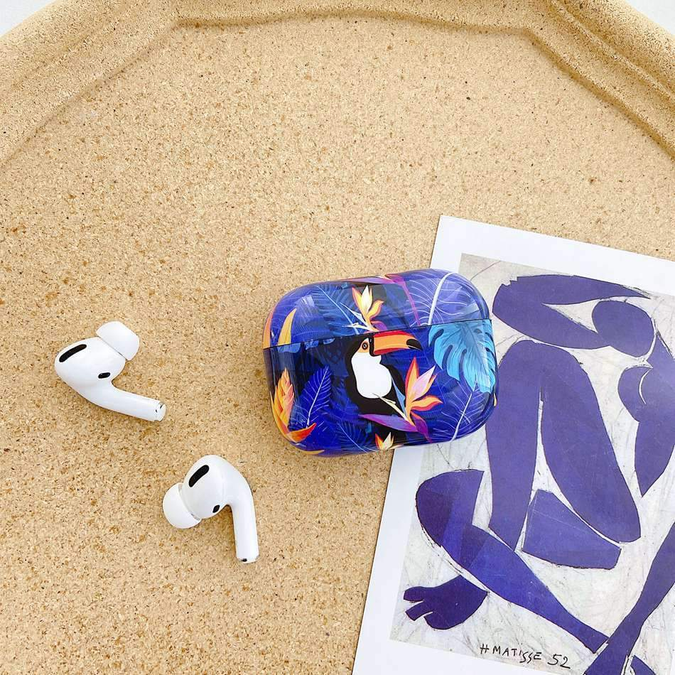 Airpods Case Luxury Marble Leaf Pattern AirPods Pro Case