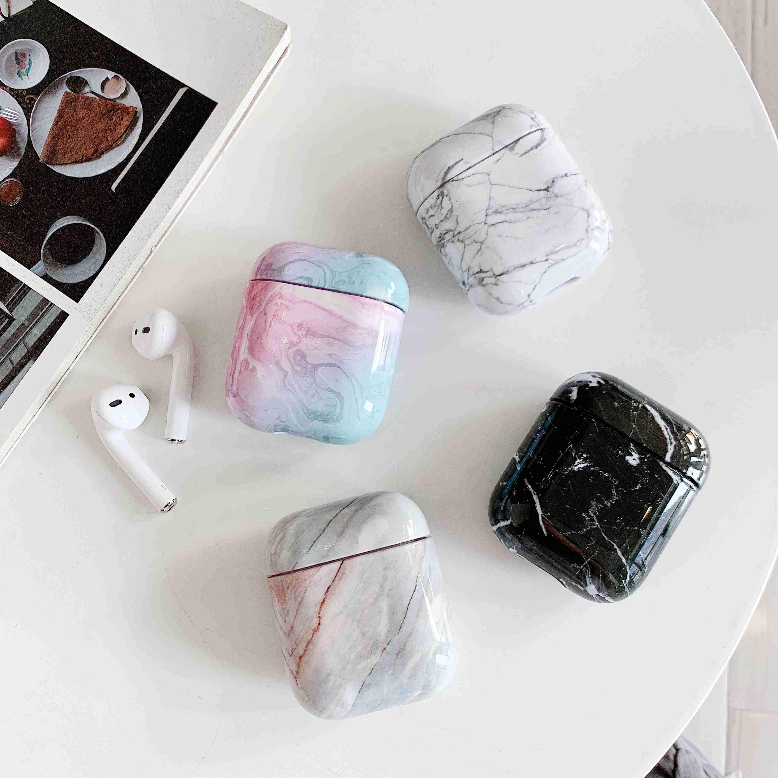 Airpods Case Marble AirPods Case