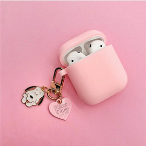 Airpods Case style A Cute Cartoon Dog Silicone AirPods Case