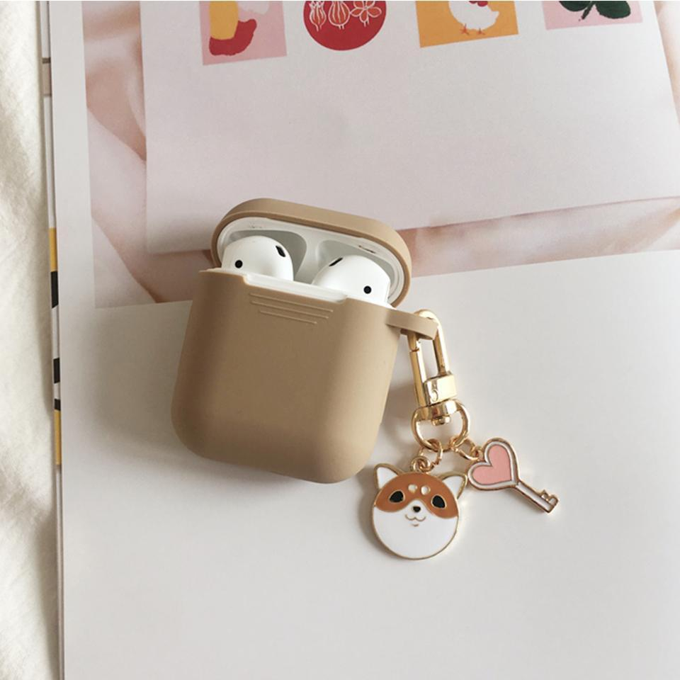 Airpods Case style E Cute Cartoon Dog Silicone AirPods Case