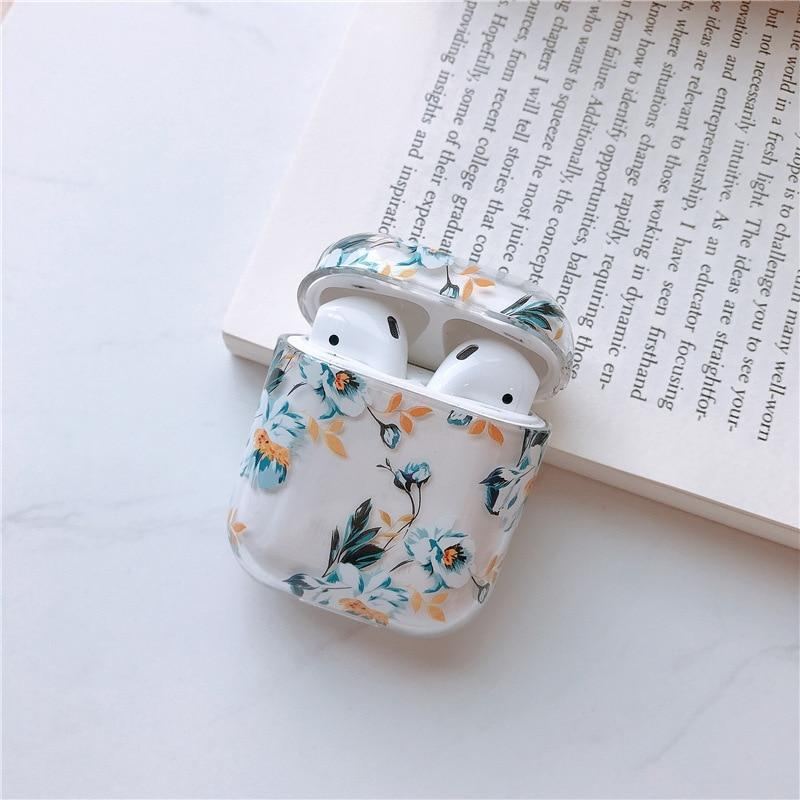 Airpods Case Transparent Flower Style AirPods Case