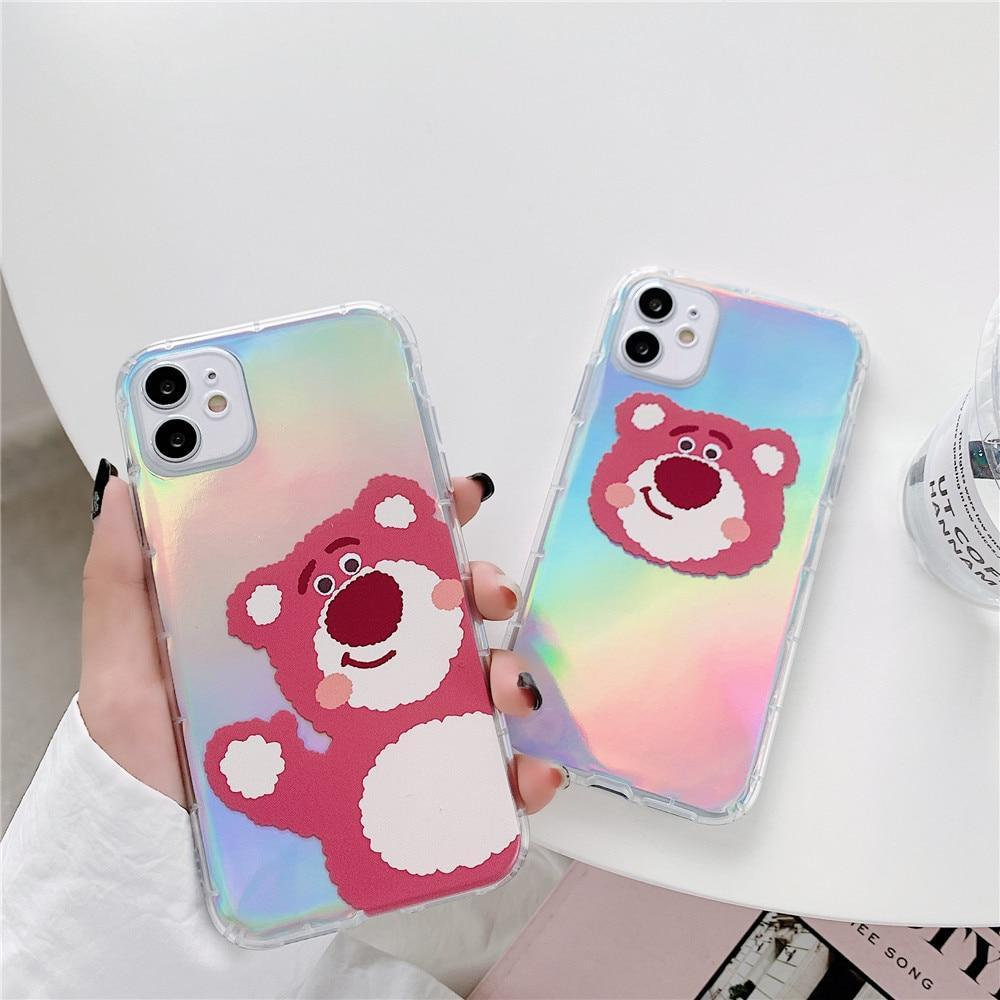 Phone Case Cartoon Bear Iridescent Case