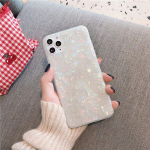 Phone Case For iPhone 11 / Colorful Glitter Dream Shell Pattern Case