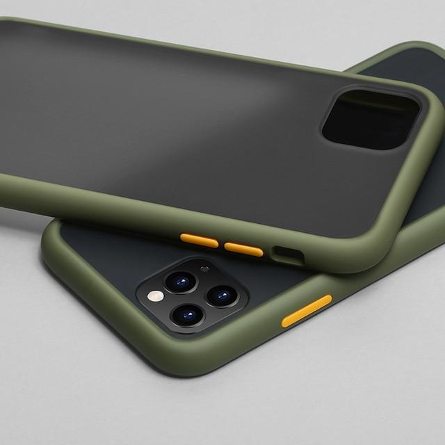 Phone Case for iphone 11Pro Max / Army Green Color Frame Matte Bumper Case