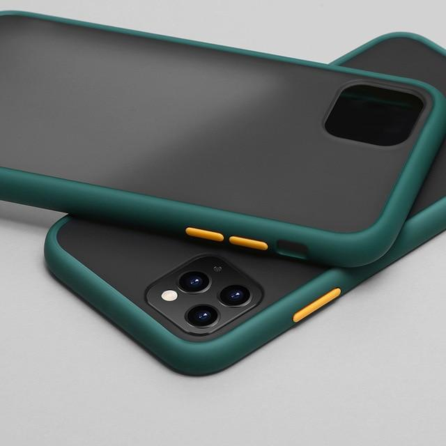 Phone Case for iphone 11Pro Max / Dark green Color Frame Matte Bumper Case