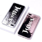 Phone Case For iPhone 7 8 / Font 4-Black Glitter Customized Liquid Glitter Case