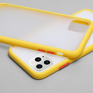 Phone Case for iphone X / Yellow Color Frame Matte Bumper Case