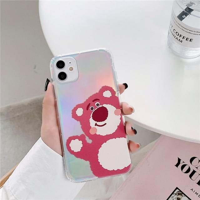 Phone Case for iPhone XR / Full Bear Cartoon Bear Iridescent Case