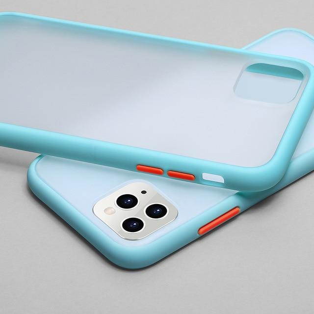 Phone Case for iphone XS Max / Blue Color Frame Matte Bumper Case