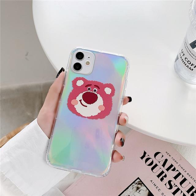 Phone Case for iPhone XS MAX / Half Bear Cartoon Bear Iridescent Case