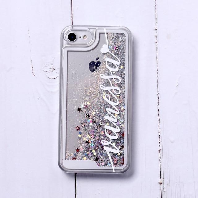 Phone Case For iPhone XS Max / No1- Silver Glitter Customized White Text Glitter Case