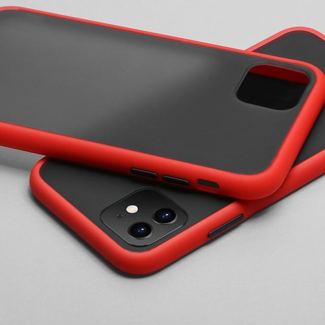Phone Case for iphone XS Max / Red Color Frame Matte Bumper Case