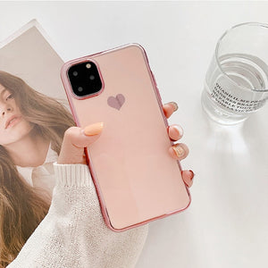 Luxury Plating Love Heart Case