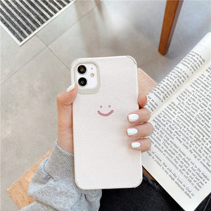 Simple Smile Silicone Leather Case