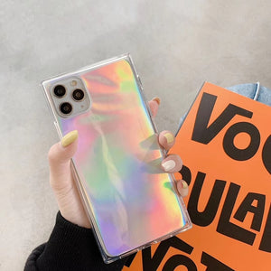 Rectangle Holographic Transparent Case