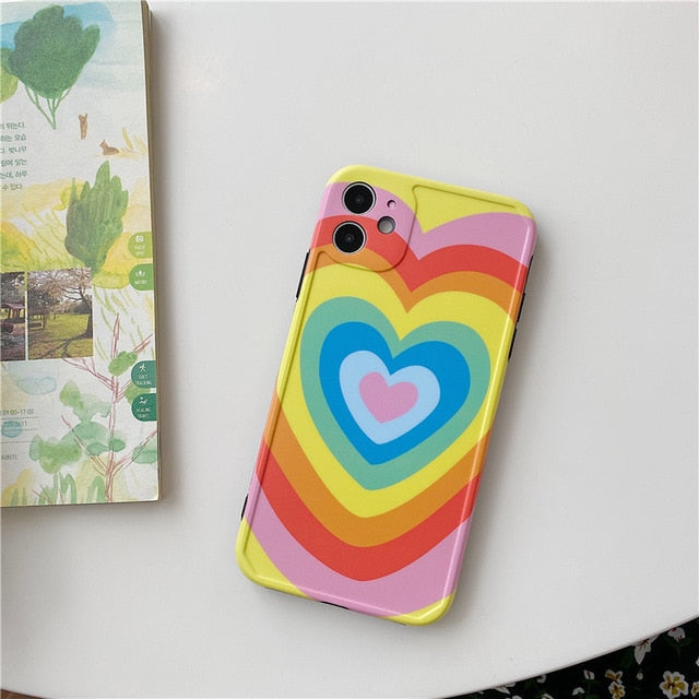 Rainbow Style Love Heart Case
