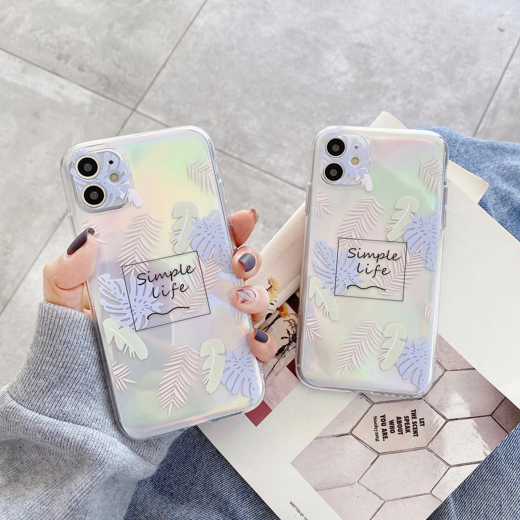 Holographic Laser Leaf Case