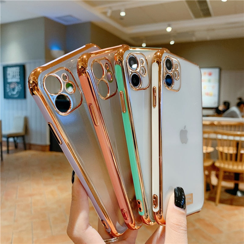 Luxury Electroplated Clear Silicone Case