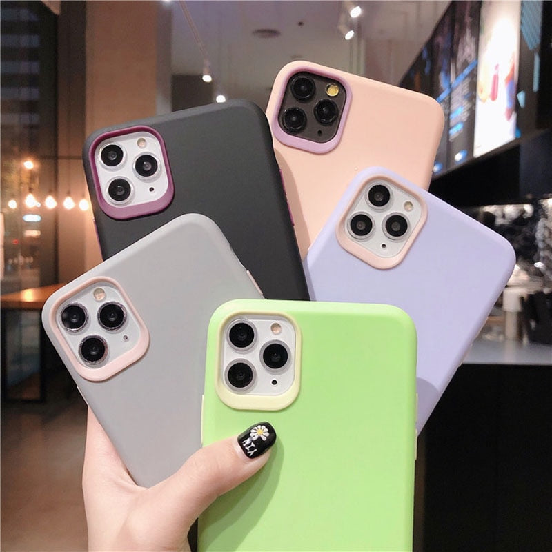 Luxury Candy Color Silicone Case