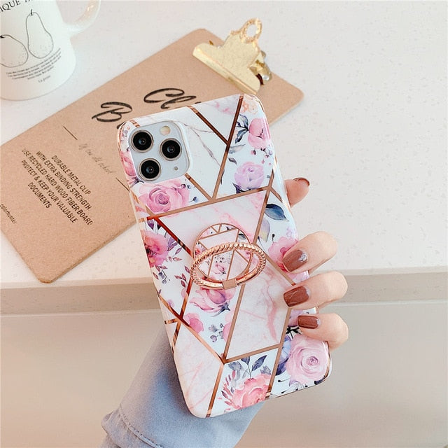 Plating Marble Ring Holder Case
