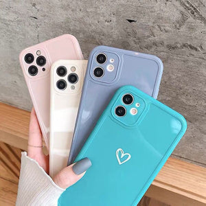 Love Heart Candy Color Case