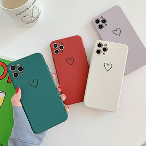 Love Heart Silicone Color Case