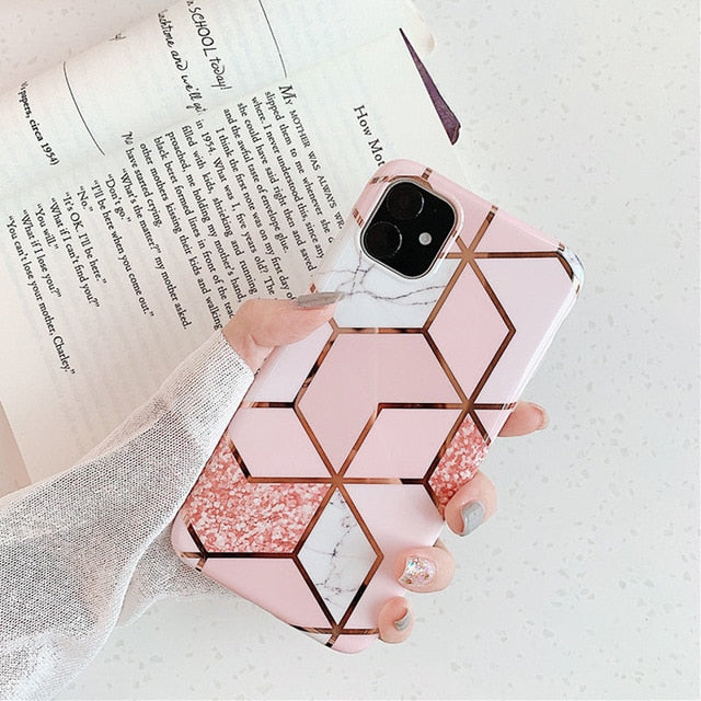 Luxury Electroplated Marble Case