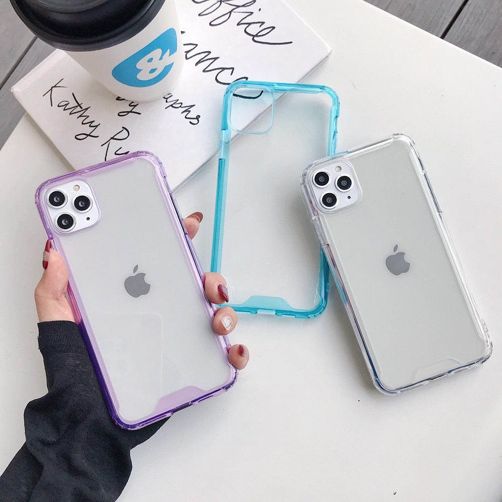 Anti-Knock Transparent Bumper Case
