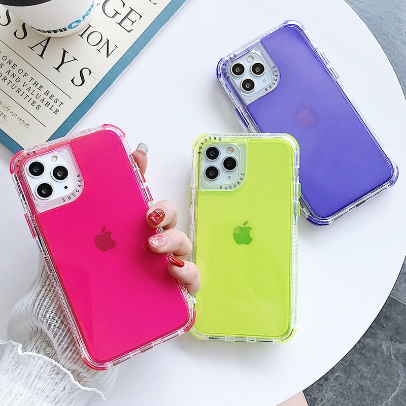 Candy Color Shockproof Bumper Case