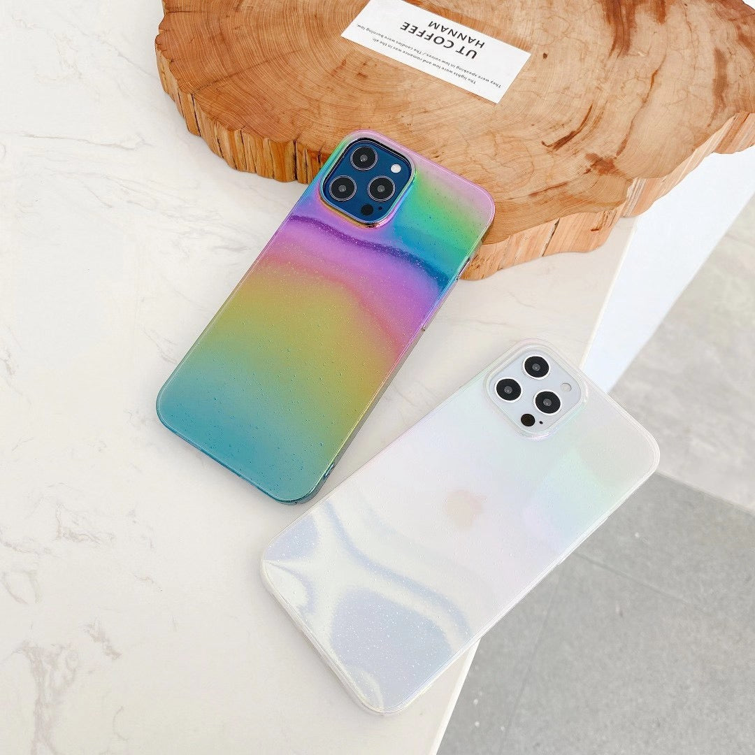 Water Drop Rainbow Laser Case