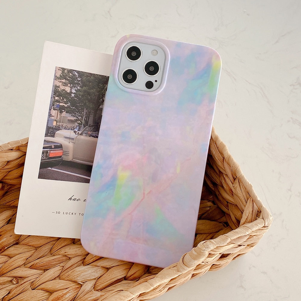 Gradient Pink Marble Case